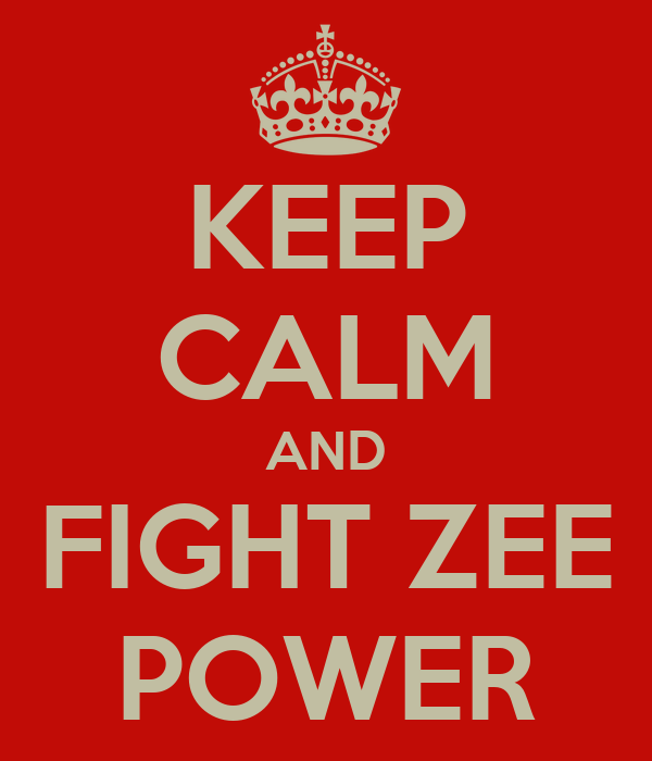 KEEP CALM AND FIGHT ZEE POWER