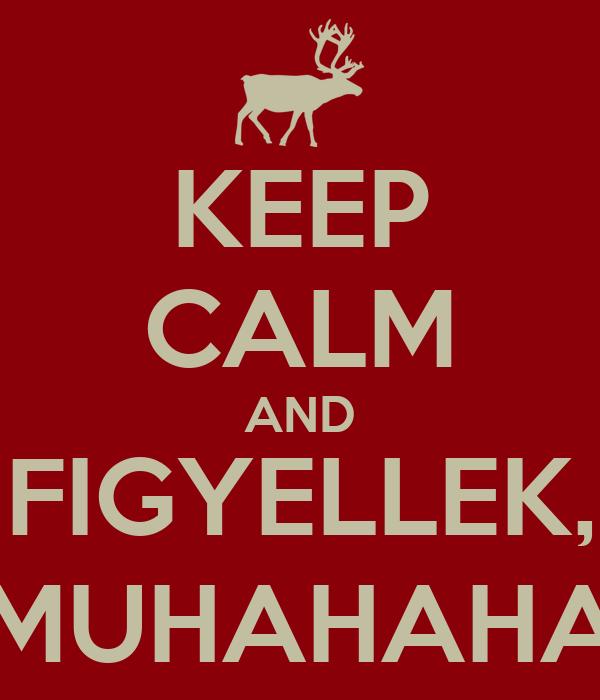 KEEP CALM AND FIGYELLEK, MUHAHAHA