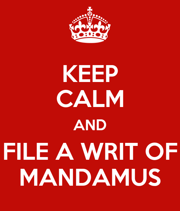 writ of mandamus Background information a public record can be corrected or a vehicle titled by petitioning for a writ of mandamus mandamus (latin for we command) is a writ issued by a court commanding a public official to perform an action.