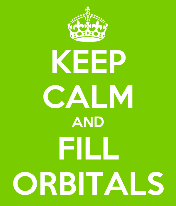 KEEP CALM AND FILL ORBITALS