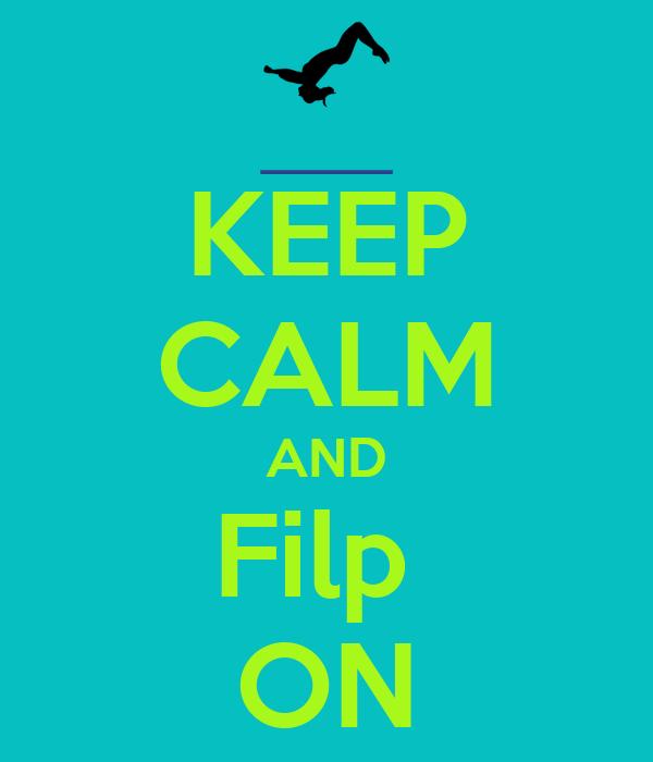 KEEP CALM AND Filp  ON