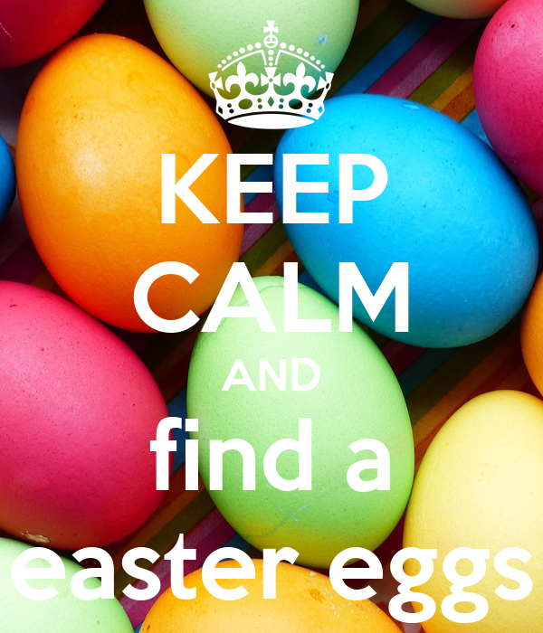 KEEP CALM AND find a easter eggs
