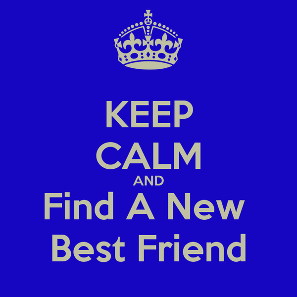 KEEP CALM AND Find A New  Best Friend
