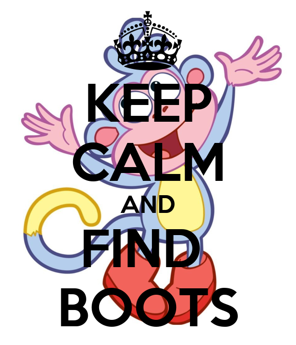 KEEP CALM AND FIND  BOOTS