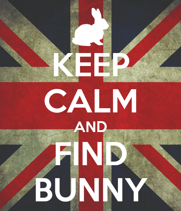 KEEP CALM AND FIND BUNNY