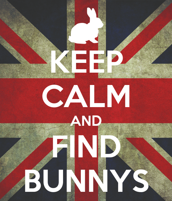 KEEP CALM AND FIND BUNNYS