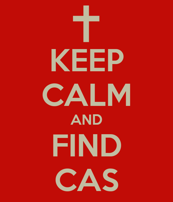 KEEP CALM AND FIND CAS