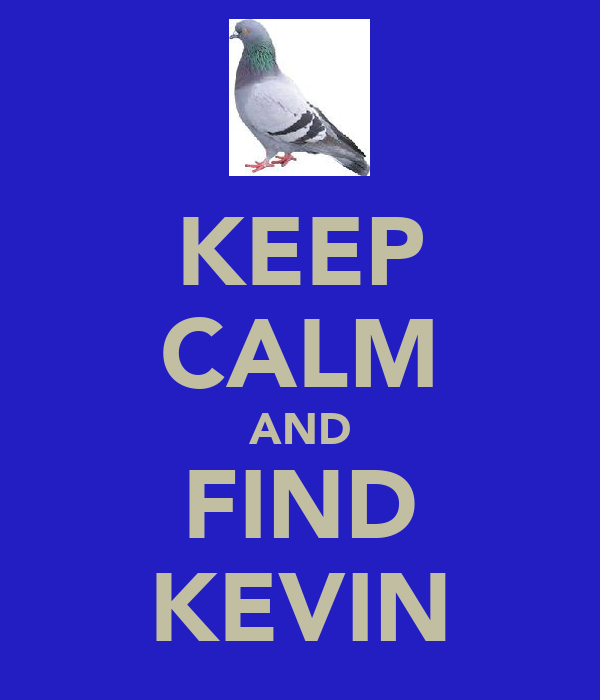 KEEP CALM AND FIND KEVIN