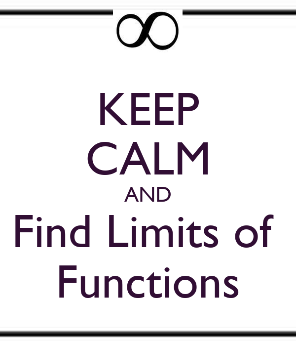 KEEP CALM AND Find Limits of  Functions