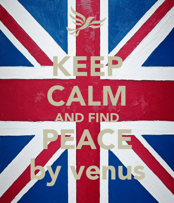 KEEP CALM AND FIND PEACE by venus