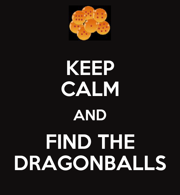 KEEP CALM AND FIND THE DRAGONBALLS