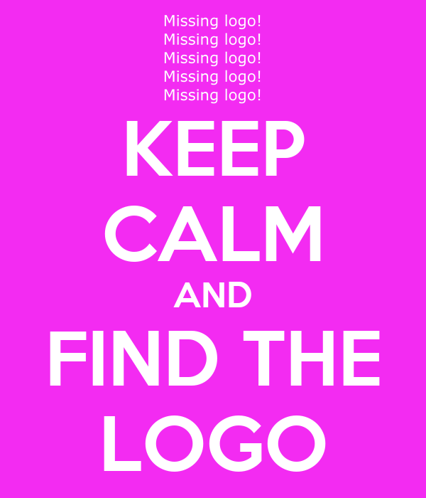 KEEP CALM AND FIND THE LOGO