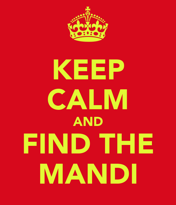 KEEP CALM AND FIND THE MANDI