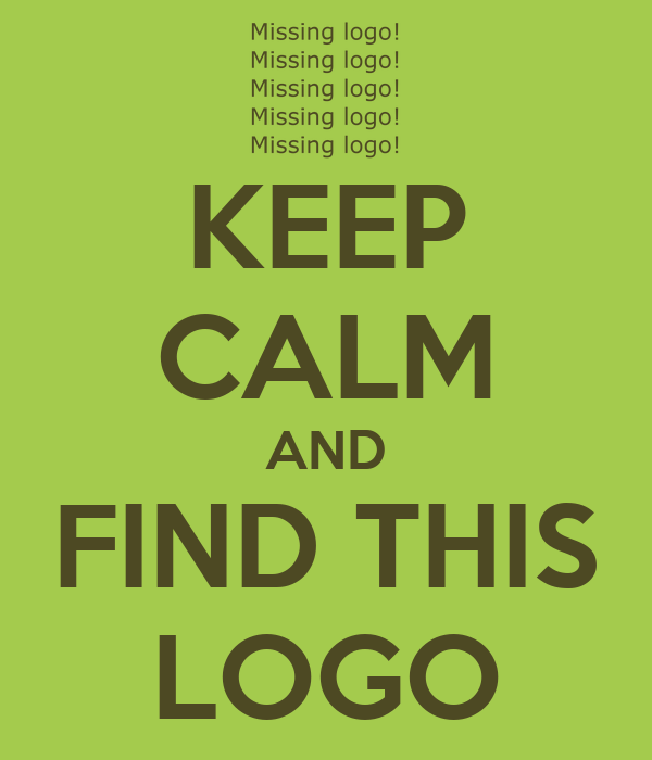 KEEP CALM AND FIND THIS LOGO
