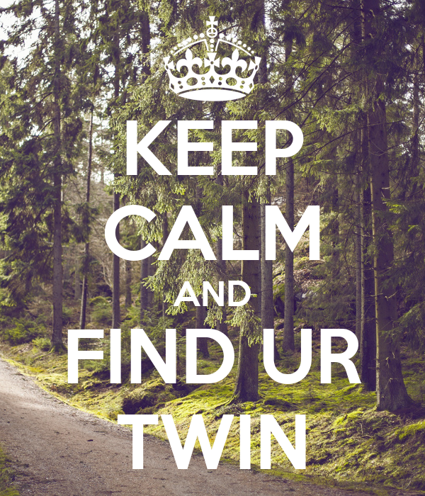 KEEP CALM AND FIND UR TWIN