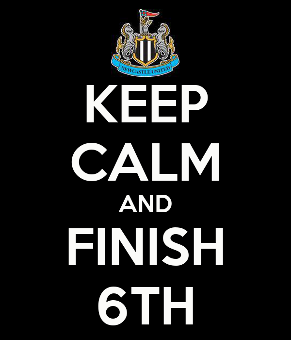 KEEP CALM AND FINISH 6TH