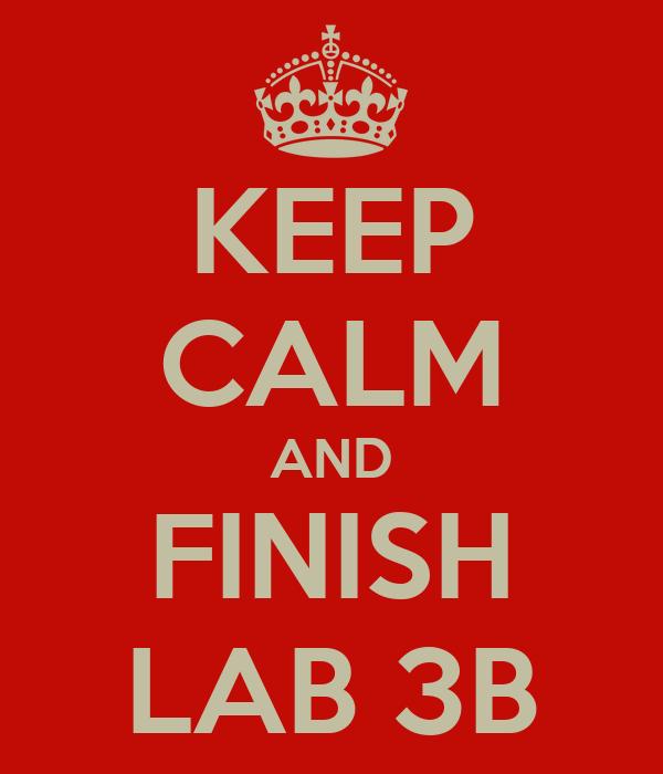 KEEP CALM AND FINISH LAB 3B