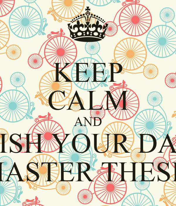 What is master degree thesis