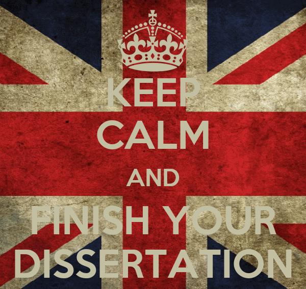 Finishing your dissertation...?