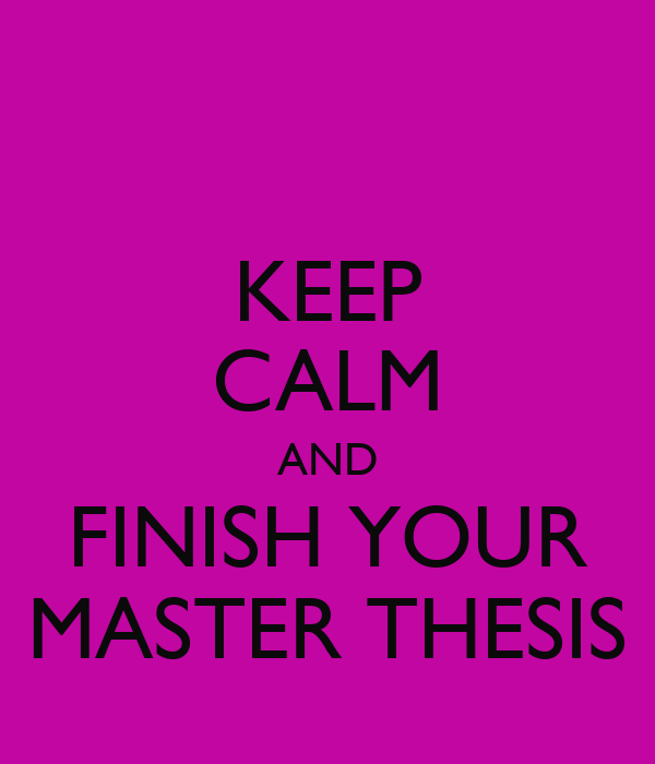 finish thesis One way of doing this is to, every now and then, print the in-progress draft of your  thesis after finishing the first couple of chapters, i did this.