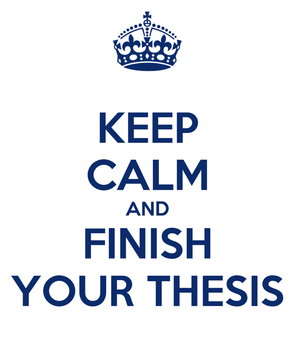 finish your thesis Becker, h s writing for social scientists: how to start and finish your thesis,  book, or article as the title indicates, becker's book is especially useful for those .