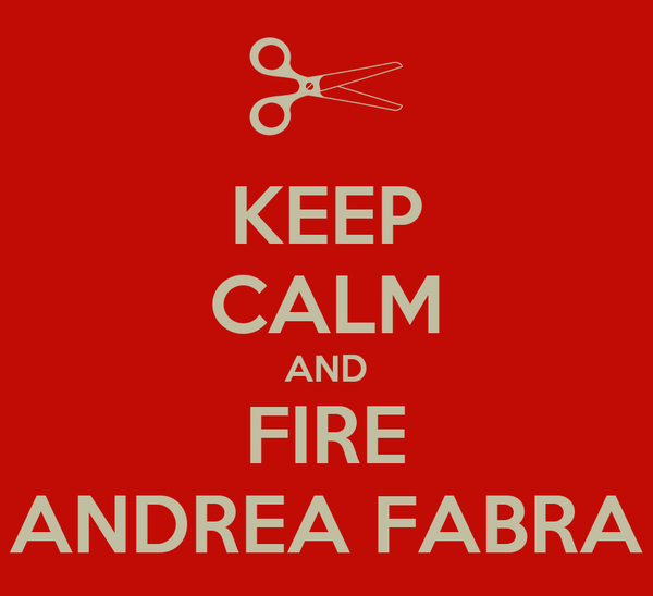KEEP CALM AND FIRE ANDREA FABRA