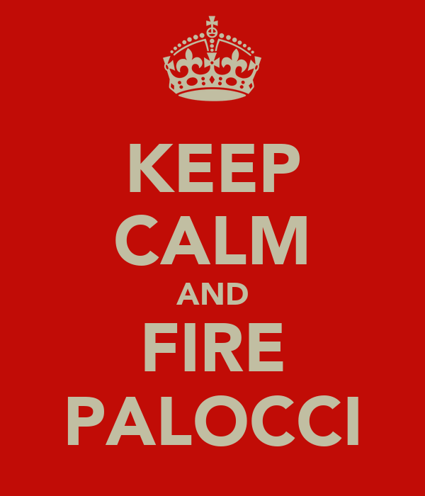KEEP CALM AND FIRE PALOCCI