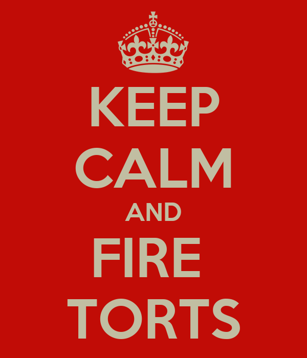 KEEP CALM AND FIRE  TORTS