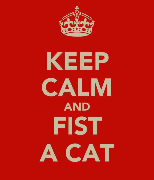 KEEP CALM AND FIST A CAT