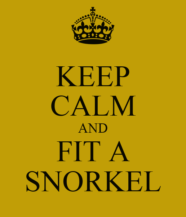 KEEP CALM AND FIT A SNORKEL
