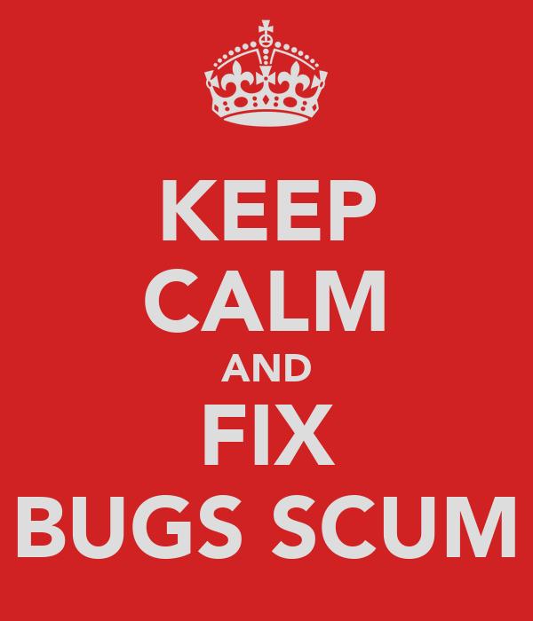 KEEP CALM AND FIX BUGS SCUM