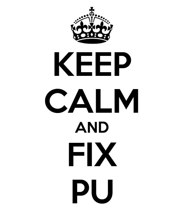 KEEP CALM AND FIX PU
