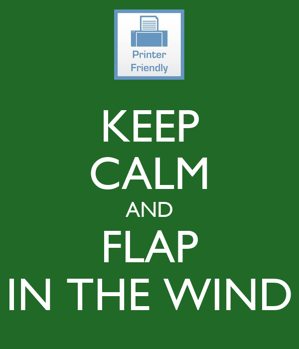 KEEP CALM AND FLAP IN THE WIND