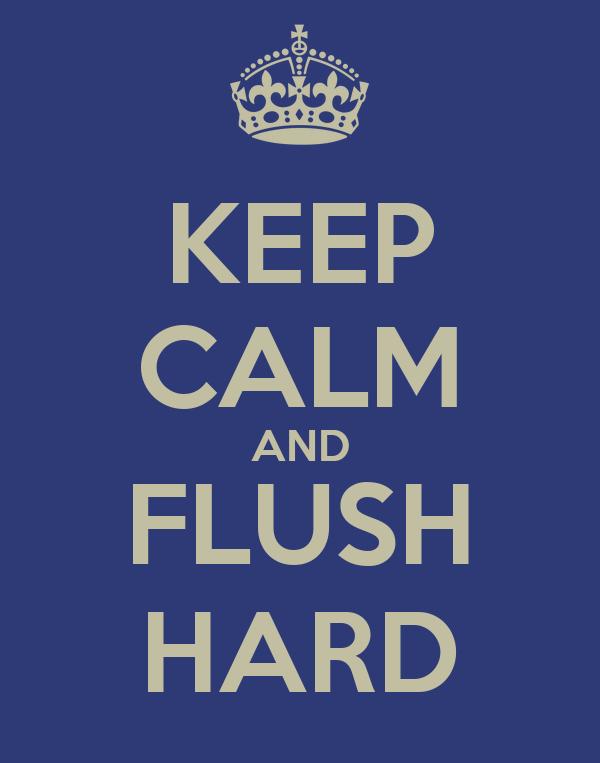 KEEP CALM AND FLUSH HARD