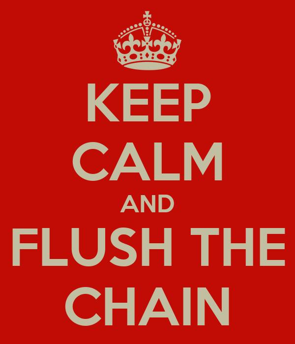 KEEP CALM AND FLUSH THE CHAIN