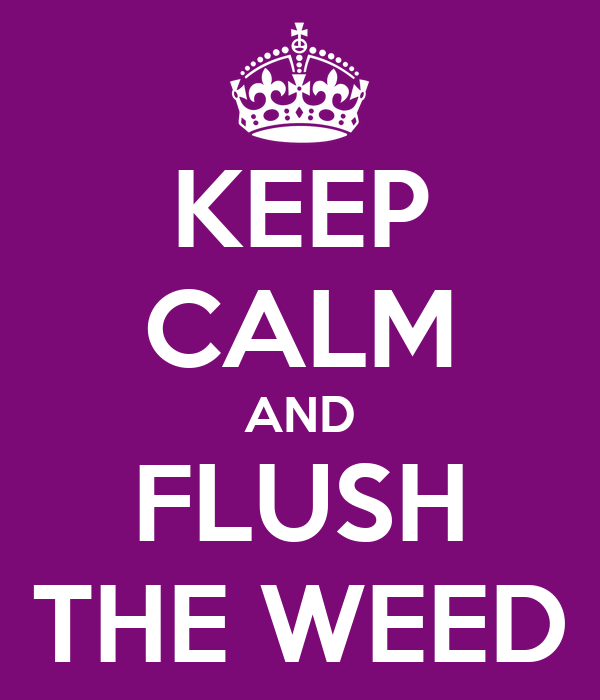 KEEP CALM AND FLUSH THE WEED