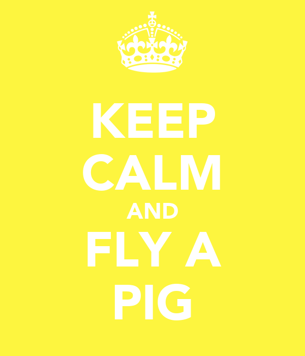 KEEP CALM AND FLY A PIG