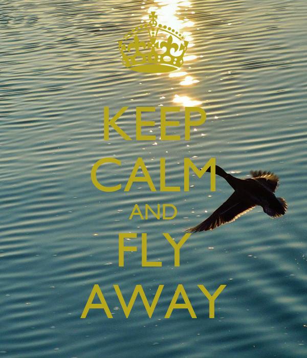 KEEP CALM AND FLY AWAY
