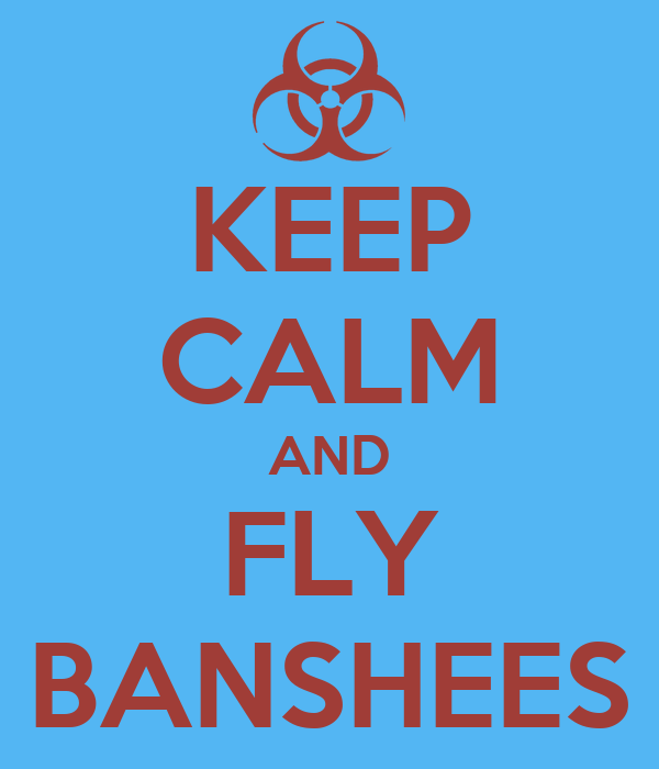 KEEP CALM AND FLY BANSHEES