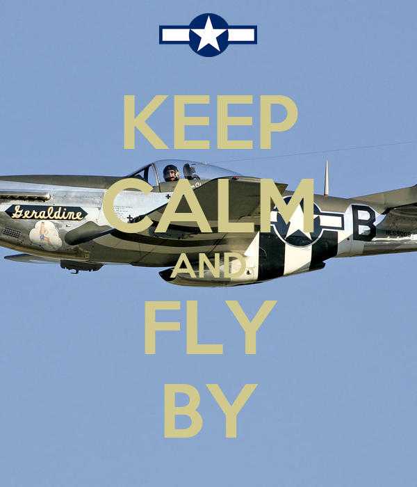 KEEP CALM AND FLY BY