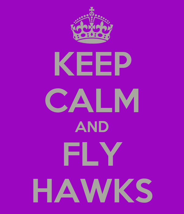 KEEP CALM AND FLY HAWKS