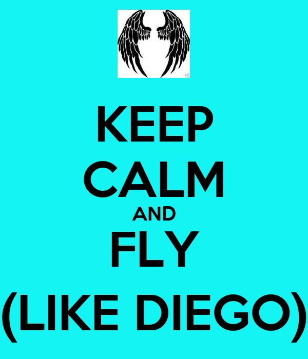 KEEP CALM AND FLY (LIKE DIEGO)