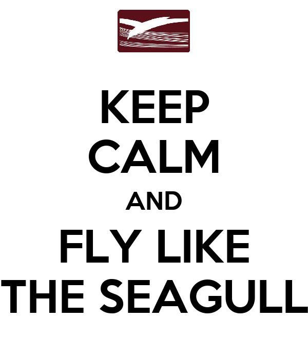 KEEP CALM AND FLY LIKE THE SEAGULL