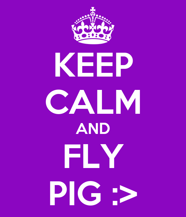KEEP CALM AND FLY PIG :>