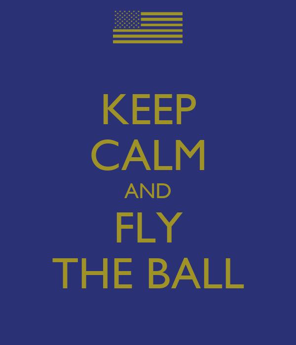 KEEP CALM AND FLY THE BALL