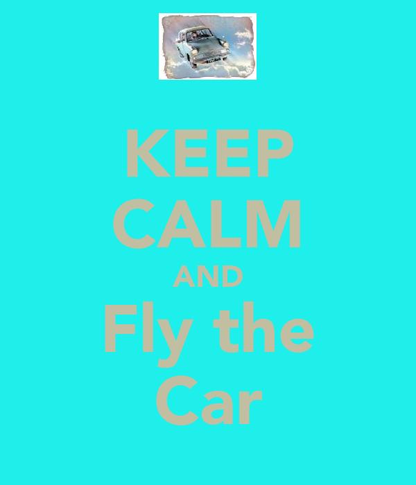 KEEP CALM AND Fly the Car