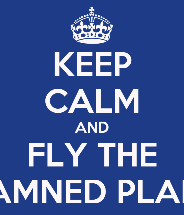 KEEP CALM AND FLY THE DAMNED PLANE
