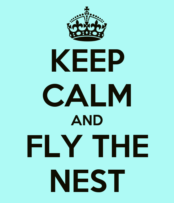 KEEP CALM AND FLY THE NEST