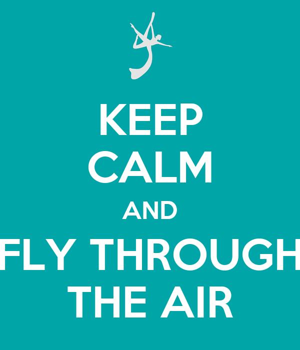 KEEP CALM AND FLY THROUGH THE AIR