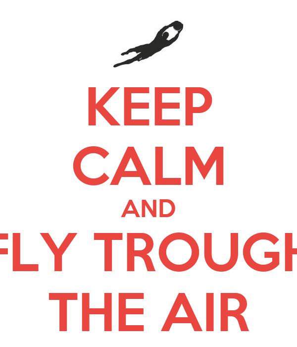 KEEP CALM AND FLY TROUGH THE AIR